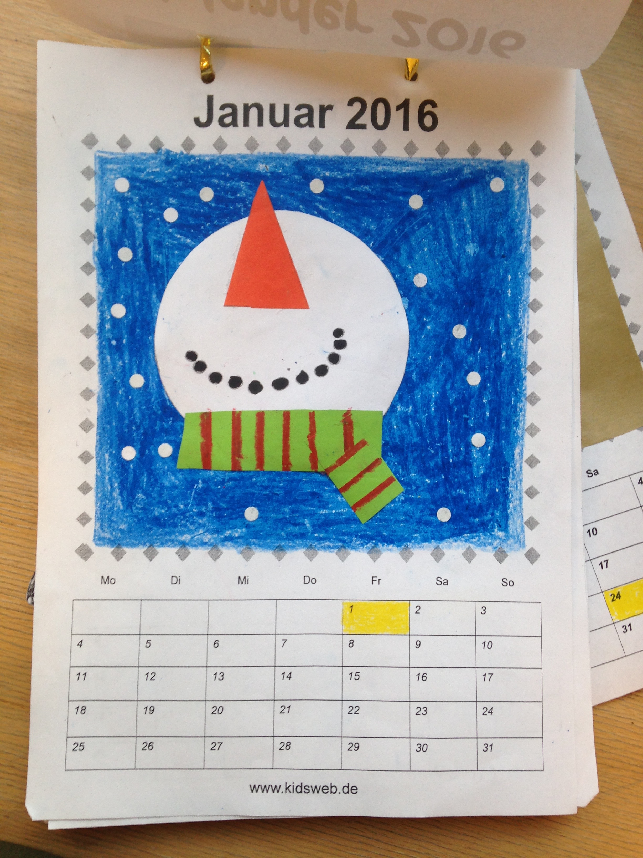 Bastelkalender Ideen.Kalender Aris Grundschulblog