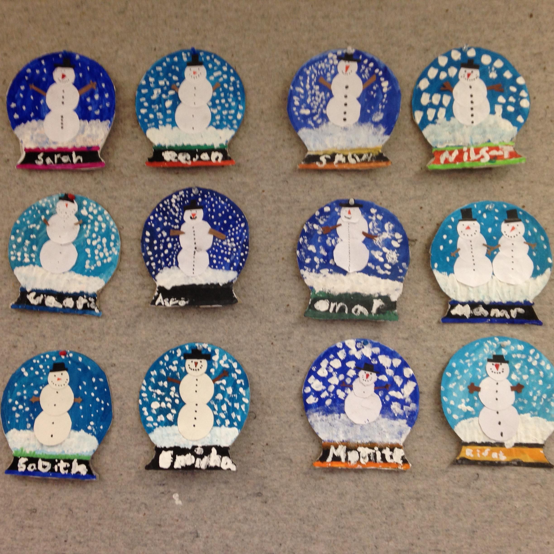 Schneekugeln Aus Pappe Und Papier Grundschul Blog
