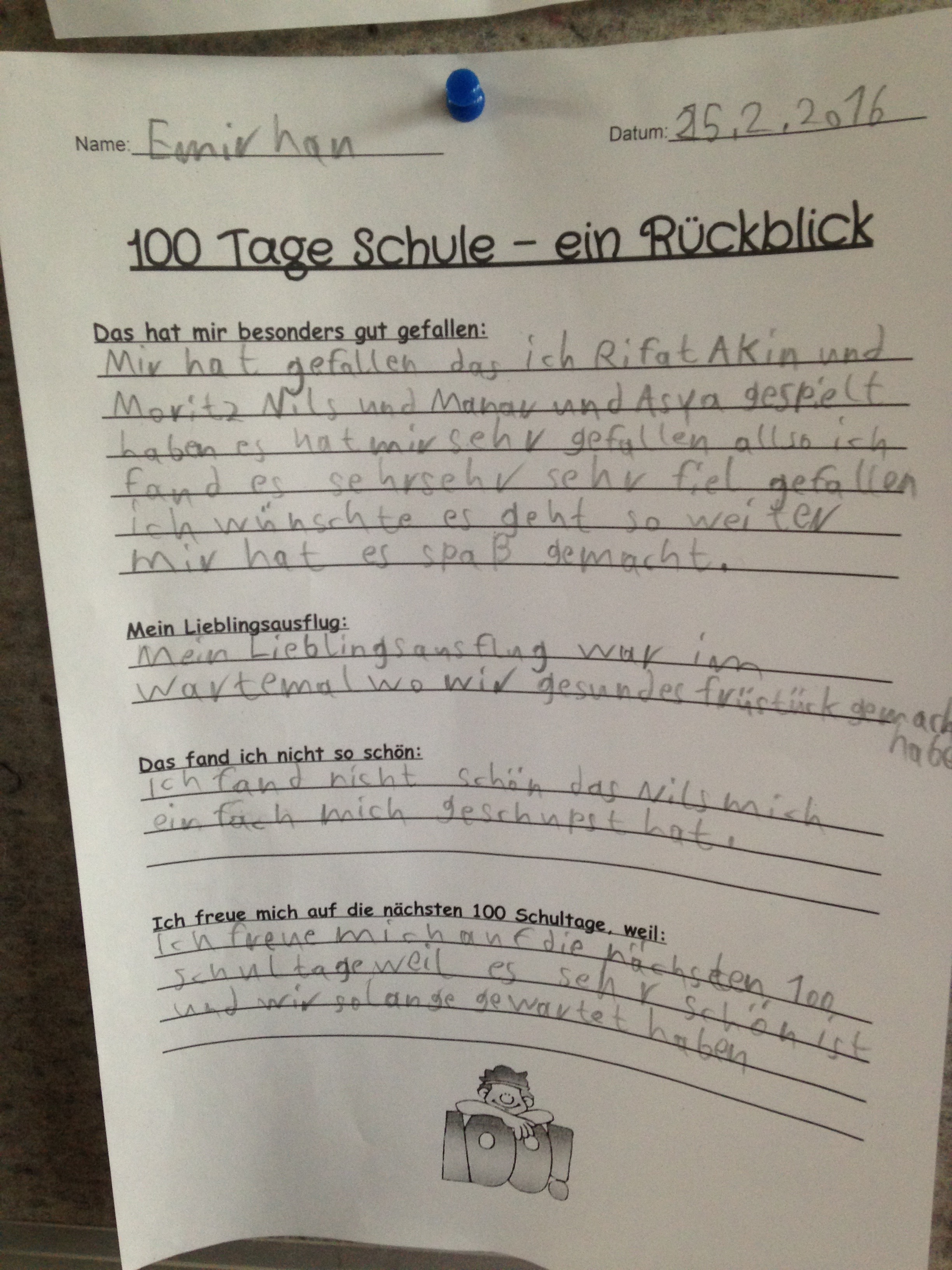 100 days – Grundschul-Blog